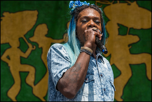 Big Freedia at Jazz Fest day 6 on May 6, 2017. Photo by Ryan Hodgson-Rigsbee www.rhrphoto.com