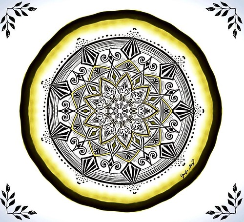 To create one's world in any of the arts takes courage. ~Georgia O'Keeffe #instaart #mandala #mandalas #mandala_art #mandala_sharing #yellowandblack #positivity #amaziograph #amaziographapp #enlight #drawing #applepencil #digitalart #itsallinthedetails #g