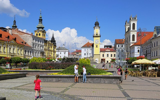 Many historical monuments of Banska Bystrica city are situated on the SNP Square