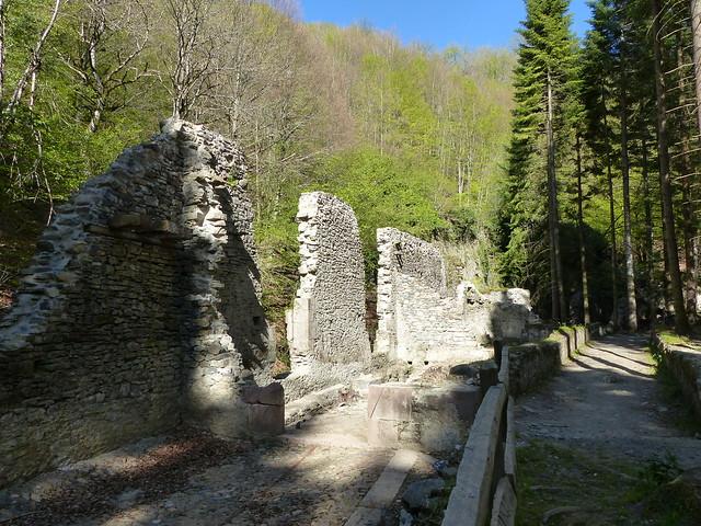 Eugi, Navarre, Espagne: ruines de la Manufacture Royale d'Armes