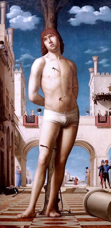 IMG_5860 Antonello da Messina. 1430-1479. Saint Sébastien. Vers 1478.   Dresde. Gemäldegalerie alte meister.
