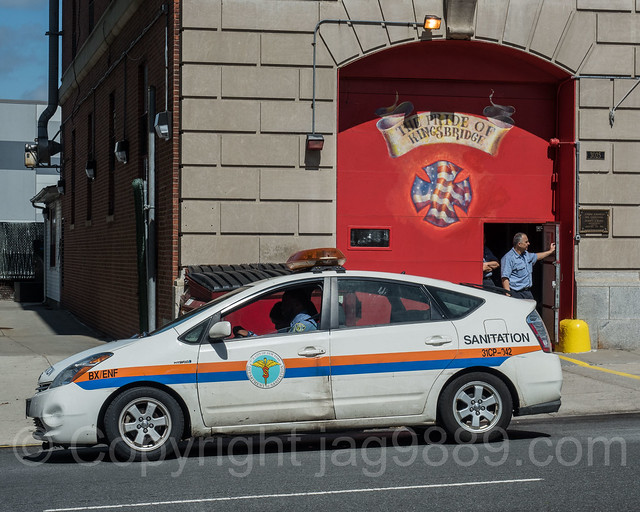 NYC Department of Sanitation Vehicle, Kingsbridge, New York City