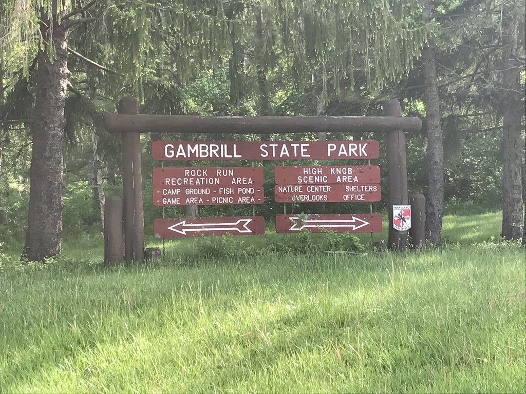 Photo of Gambrill State Park entrance sign