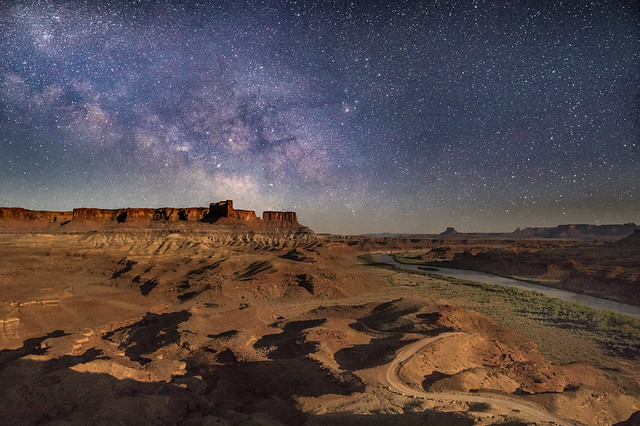 Canyonlands Milky Way Along the Green River, in Moonlight (Explored)
