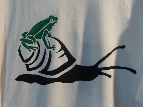 Frog on a Snail Shirt