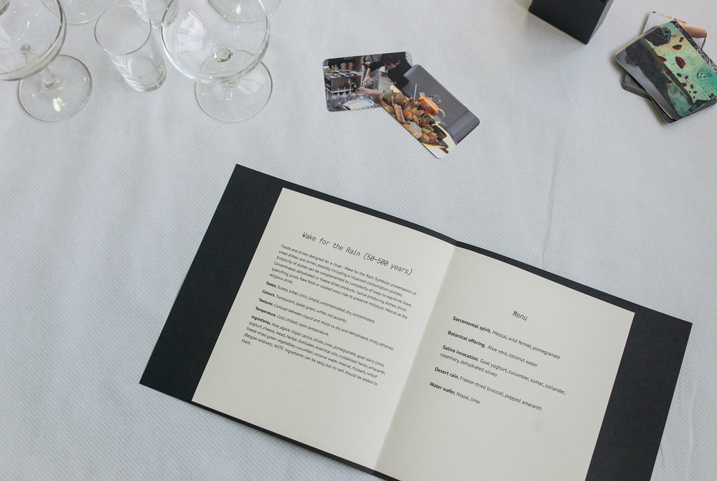 Reception table, menu I