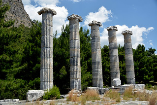 PRIENE Ancient City,  The Temple of Athena (Söke/ Turkey) Unesco Tentative Lists