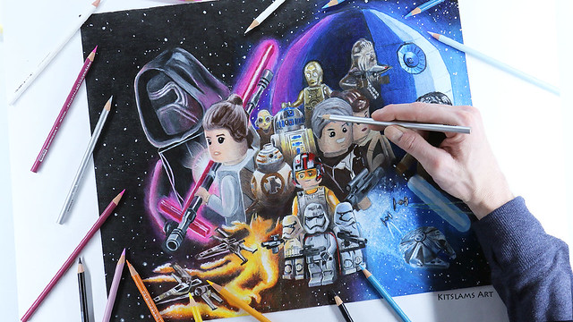 Star Wars the Force Awakens Drawing