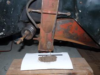 Drain Hole Crud [a Technical term] [LP 2013 P1080967].