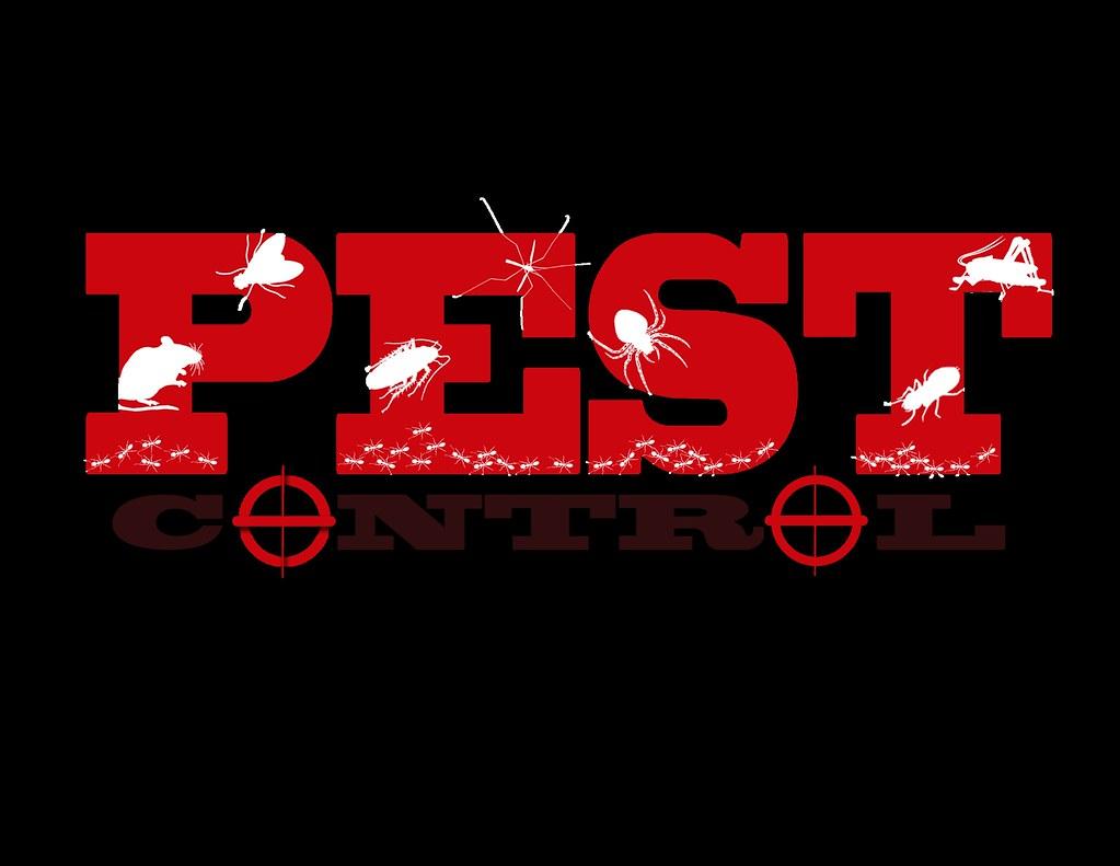 A pest control sign