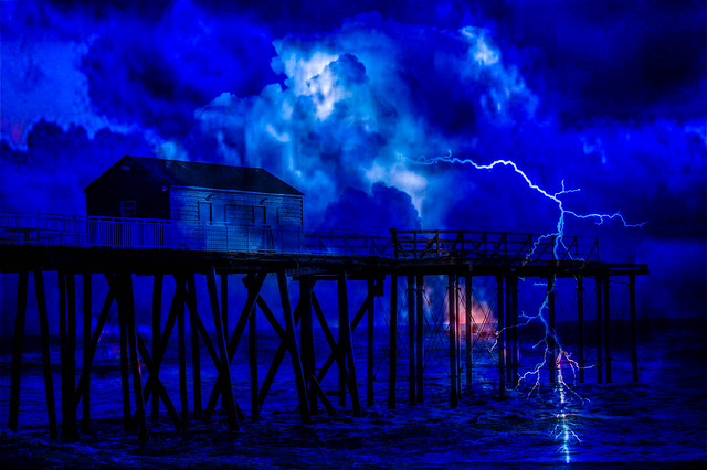 Lightening Storm at the Pier(Explored)