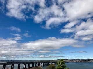 View from #wormit looking at #dundee #uk. #europe #roadtrip #bridges #clouds #iphonephotography #iphonephoto | by Dalfry