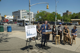 Mayor Bill de Blasio tours recent safety improvements on Queens Boulevard | by nycmayorsoffice