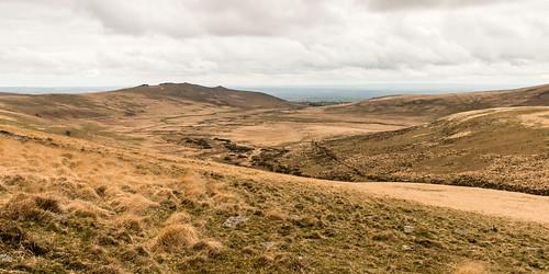 dartmoor nationalpark devon landscape taw river marsh moorland bleak hill valley