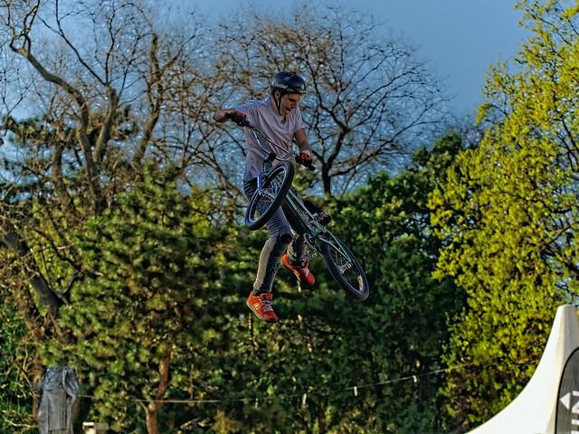 BMX-Trial Fahrer