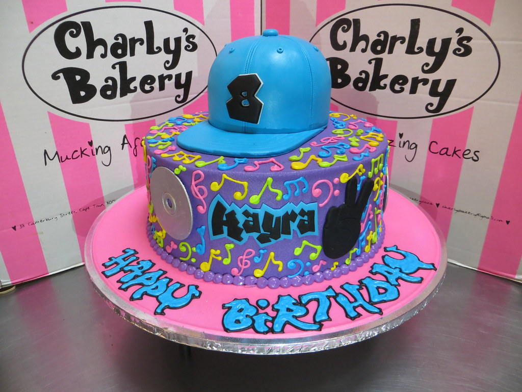 Outstanding Hip Hop Themed Single Tier Birthday Cake With 3D Personali Flickr Personalised Birthday Cards Paralily Jamesorg
