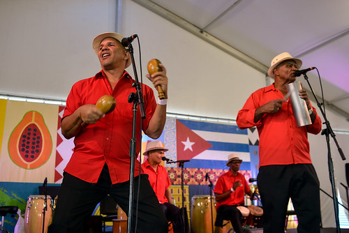 Jazz Fest Changui Guantanamo on Day 4 Jazz Fest May 4, 2017. Photo by Charlie Steiner.