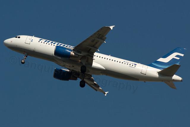 OH-LXE Finnair A320-200 London Heathrow Airport Archive