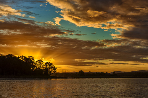 sunset sky water weather clouds lakes lakesamsonvale sunsetsandsunrisesgold cloudsstormssunsetssunrises