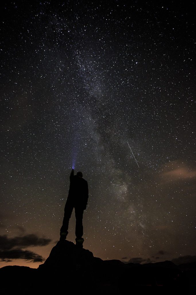Milky Way and a Meteor