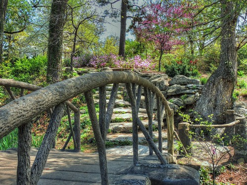 landscape saturdaylandscape 7dwf bridge park walkway azalea redbud trees