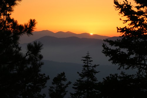 0334 Sunset over Mount Baden-Powell from our campsite at mile 244 on the PCT | by _JFR_