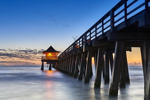 naples pier florida usa nikon nikond810 joaofigueiredo joaoeduardofigueiredo sunset dusk water sea sky
