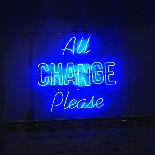 Change #signs #signage #neon #neonlights | by squeezeomatic
