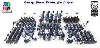 Full contingent of Garheim Crown Lion troops | by AK_Brickster