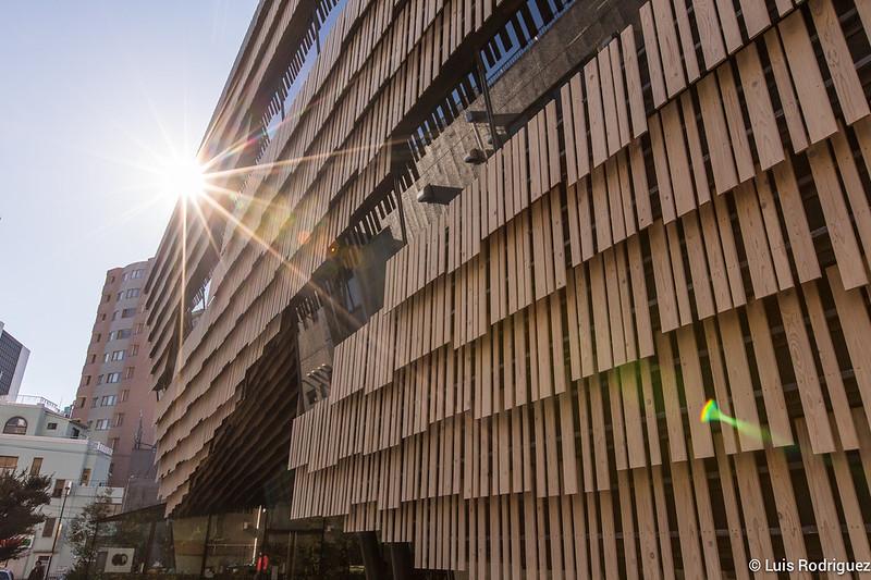 Confitería Kuriyakashi Kurogi y edificio de Kengo Kuma en la Universidad de Tokio