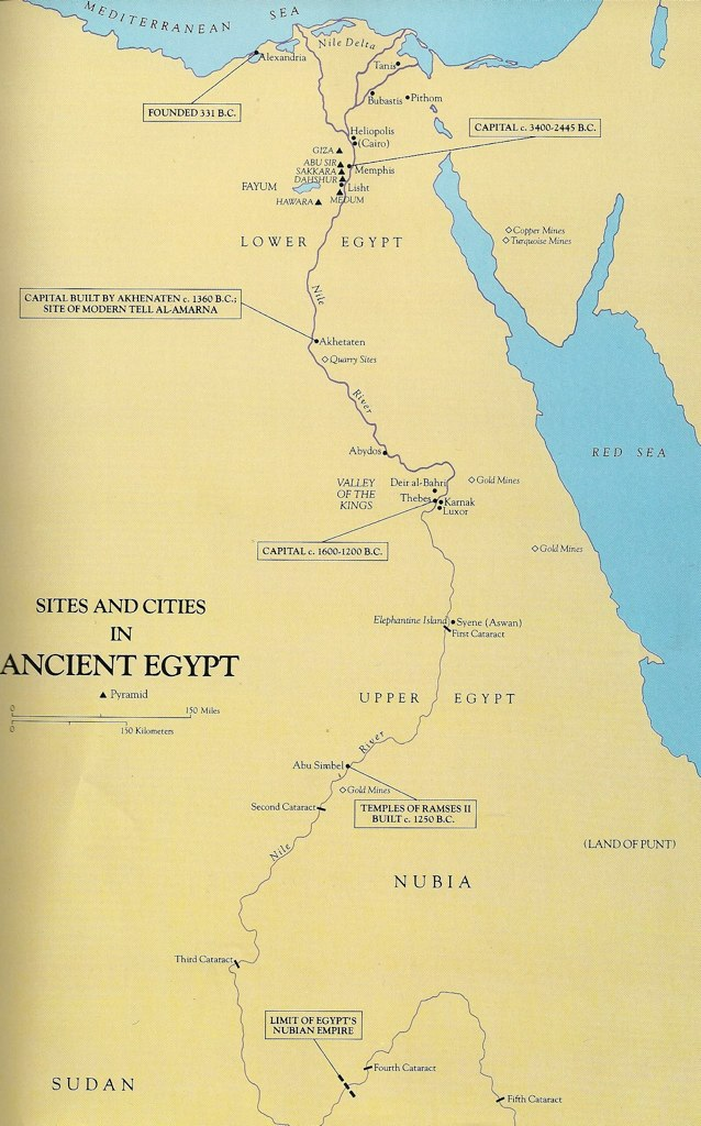 Map of Ancient Egypt, Undated | Lower and Upper Egypt, as th ...