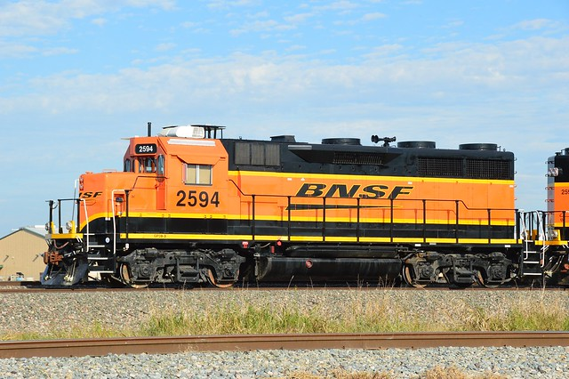 A rare and beautiful GP39-3 is seen working the Saginaw area.