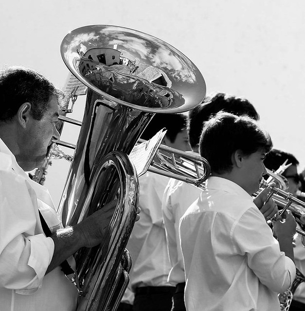 Brass-band in the streets of Monsaraz - Portugal