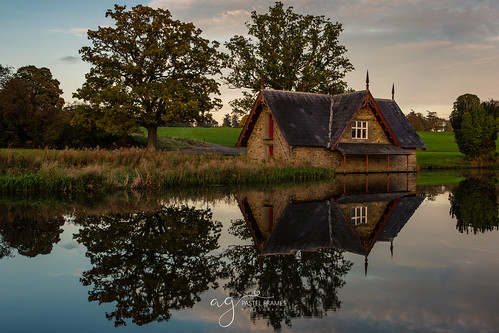 maynooth cartonhouse ireland boathouse reflections sunset trees water canon5dmark3 sightseeing travel