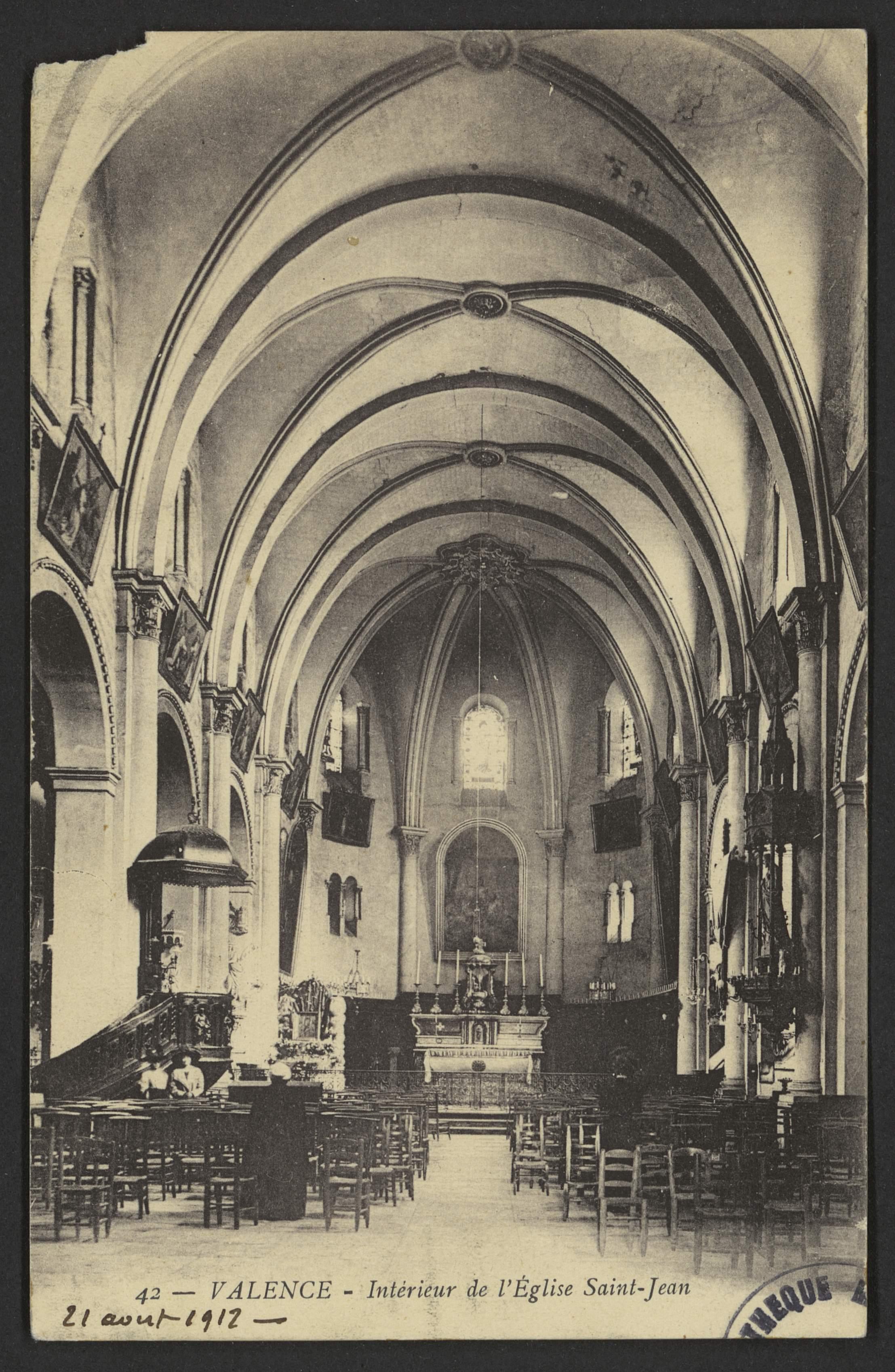 Valence - Intérieur de l'Eglise Saint-Jean