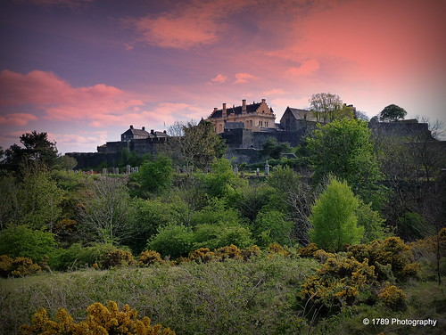 stirlingcastle gowanhill stirling scotland fortress castle landscape scottish scene sky colour trees gorse wild nature