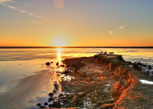 nature sun sunset shore ocean shoreline interpretive center salt marsh wetland sf sfist sanfrancisco sony canon 16mm sigma mc11 wideangle hdr golden sea water beach