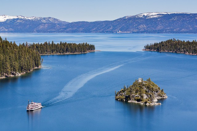 Lake Tahoe ferry and Fannette Island