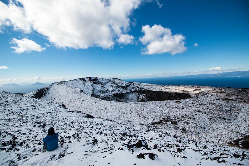 伊豆大島の雪景色