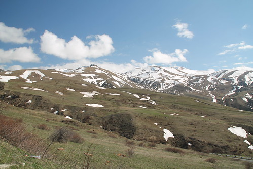 armenia mountain pass snow