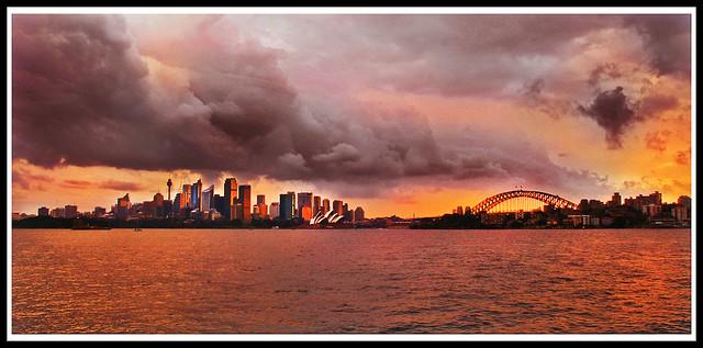 Summer storm in Sydney
