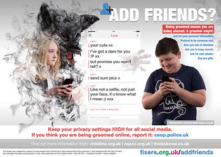 Add Friends? Online Grooming Awareness | by Fixers Creative Design