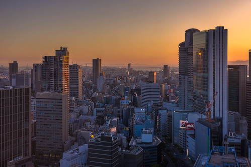 osaka japan sunset building buildings nikon d7200 sigma 1770mm 1770