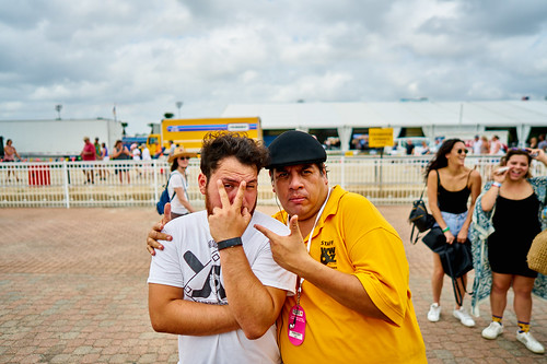 Jorge Fuentes & son. Saturday, April 29, 2017 - Jazz Fest Day 2. Photo by Eli Mergel.