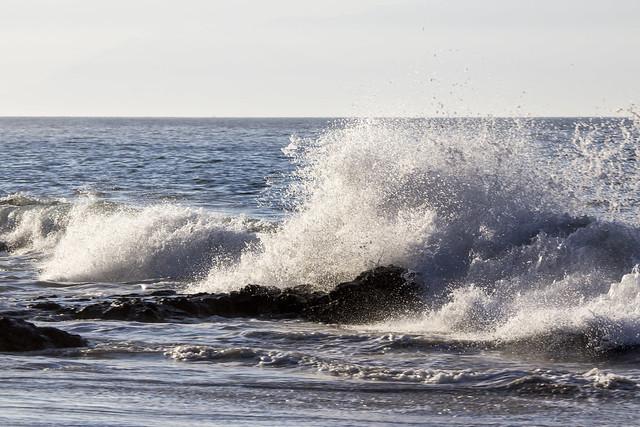 Waves on rocks, Banderas Bay, Puerto Vallarta, Mexico