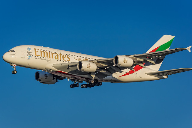 Airbus A380-861 - Emirates Airline A6-EDS - AMS/EHAM Amsterdam Airport (Schiphol)