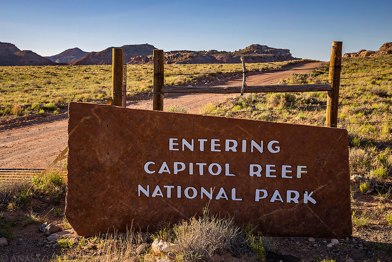 Entering Capitol Reef National Park