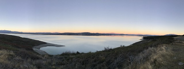 Pano of NZ dusk near Mt Cook