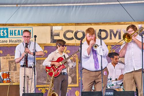 Doyle Cooper Jazz Band on on Day 4 of Jazz Fest 2017 - May 4. Photo by Eli Mergel.