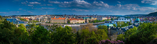 prague panorama pano praha czechia czech europe travel river water bridge bridges city cityscape architecture buildings sky clouds holiday view viewpoint scenic scenery beautiful amazing spring d750 nikon landscape vista